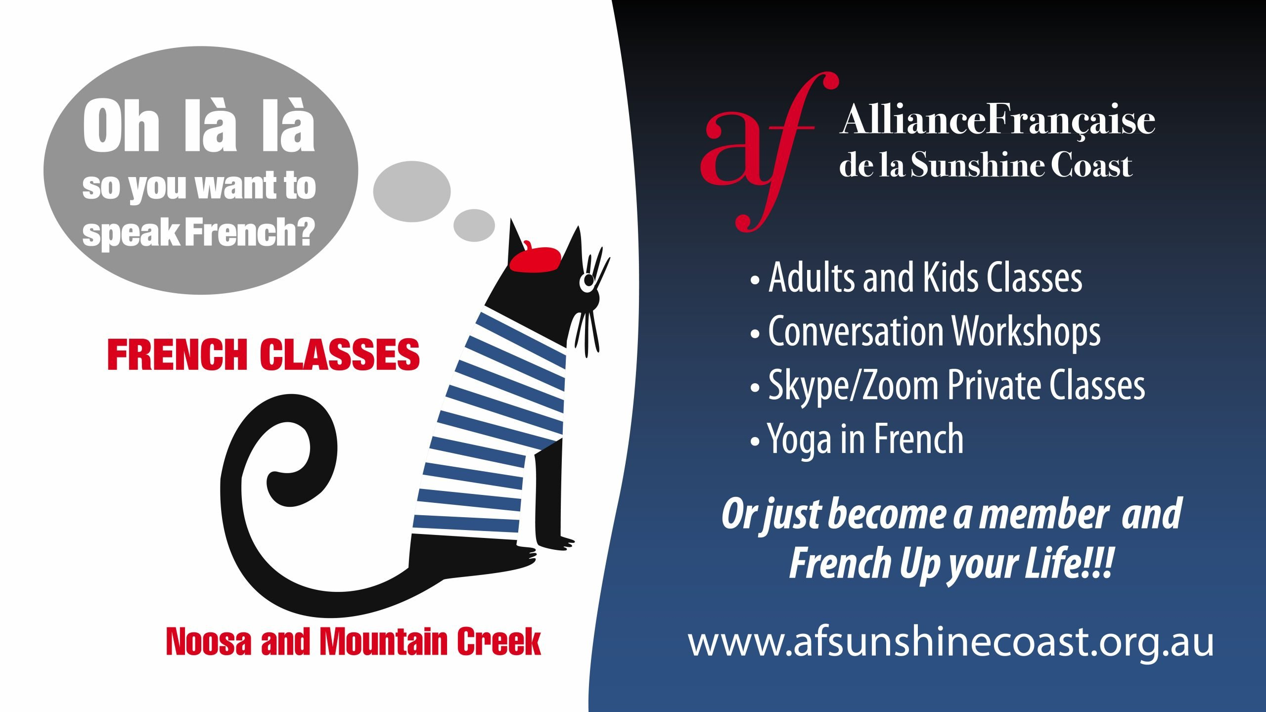Learn French on the Sunshine Coast
